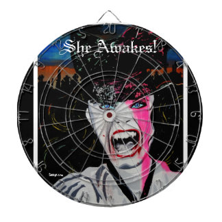 'She Awakes!' (vampire) Dart Board