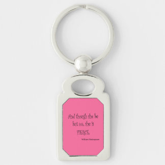 She Be But Little She is Fierce Shakespeare Quote Keychain