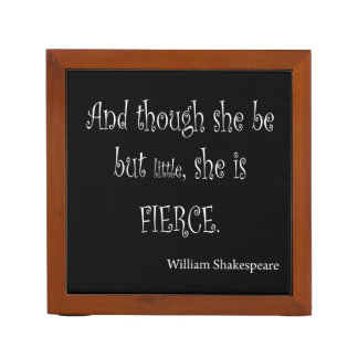 She Be But Little She is Fierce Shakespeare Quote Pencil/Pen Holder