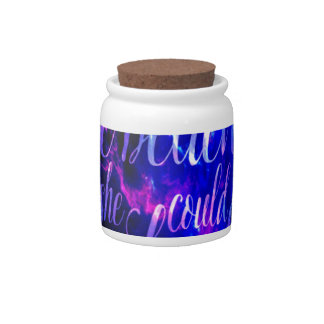 She Believed in Amethyst Dreams Candy Jar