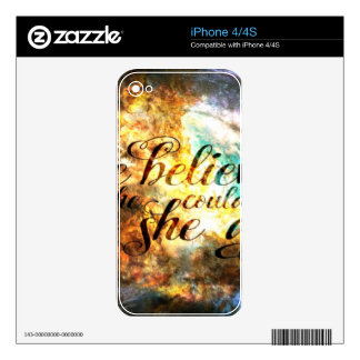 She Believed in Breathe Again iPhone 4S Skin