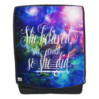 She Believed in Stairway to the Skies Backpack