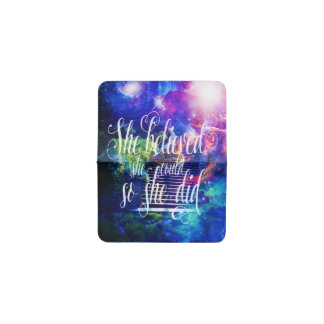 She Believed in Stairway to the Skies Business Card Holder