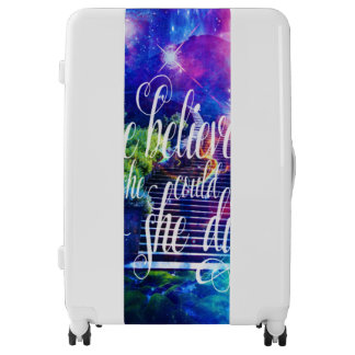 She Believed in Stairway to the Skies Luggage