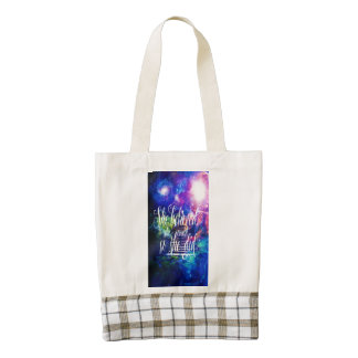 She Believed in Stairway to the Skies Zazzle HEART Tote Bag