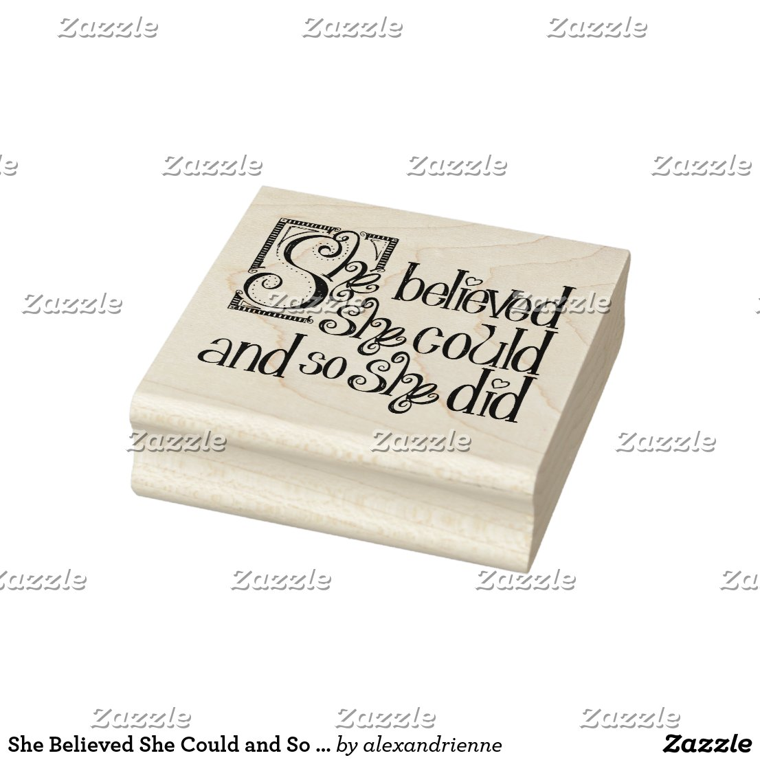 She Believed She Could and So She Did Rubber Stamp