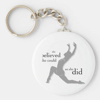 She Believed She Could Dance Basic Round Button Keychain