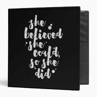 She Believed She Could - Inspirational Binder