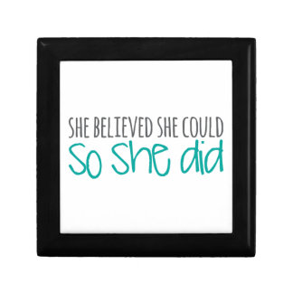 She Believed She Could, So She Did Gift Box
