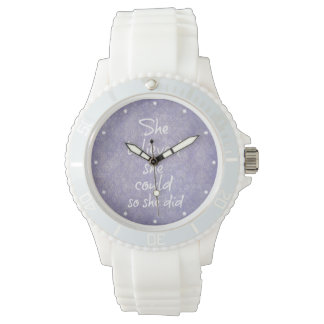 She Believed she Could so She Did Quote Wristwatch