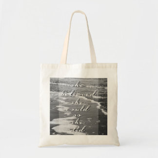 She Believed She Could, So She Did Tote Bag