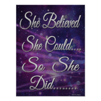 She Believed She Could So She Did Universe Poster