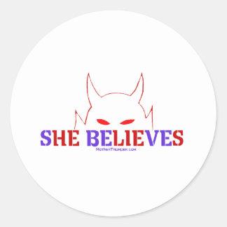 She Believes Classic Round Sticker