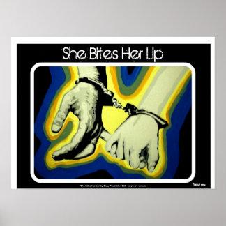 'She Bites Her Lip' Poster