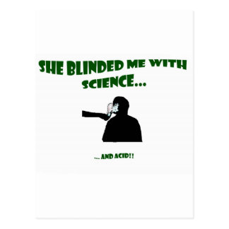 She Blinded Me With Science Postcard