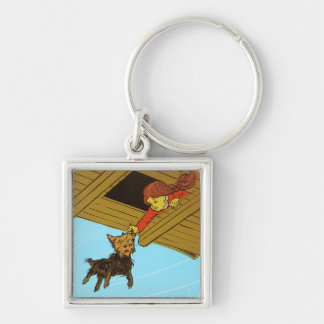 She Caught Toto By The Ear Silver-Colored Square Keychain