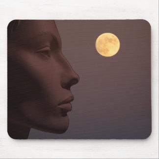 She Contemplates the Moon_Mousepad Mouse Pad