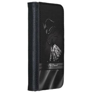 She Danced Black Silk Art iPhone 6/6s Wallet Case