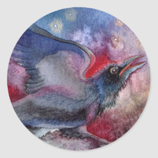 She Danced by the Light of the Moon Classic Round Sticker