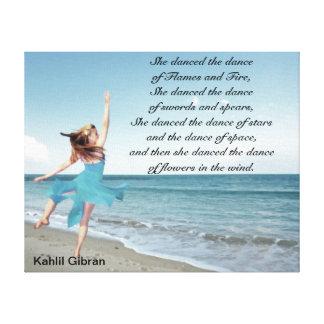 She danced the dance canvas print