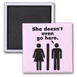 She Doesn't Even Go Here 2 Inch Square Magnet