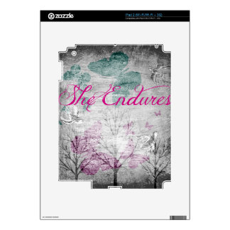 she endures Forest Decal For iPad 2