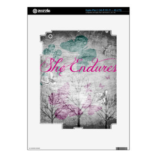 she endures Forest iPad 3 Decal