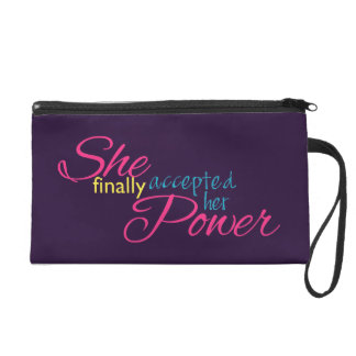 She Finally Accepted Her Power Wristlet Purse