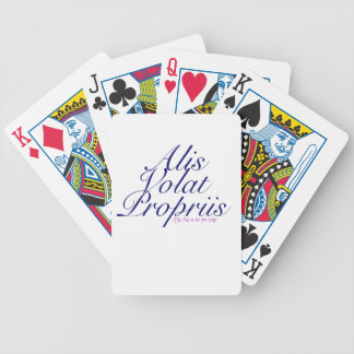 She flies on her own wings bicycle playing cards