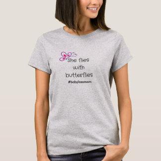 She flies with butterflies T-Shirt