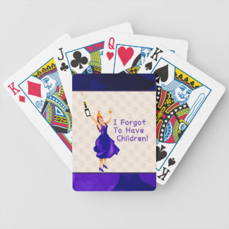 She Forgot To Have Children Bicycle Playing Cards