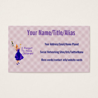 She Forgot To Have Children Business Card