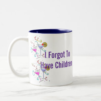 She Forgot To Have Children Two-Tone Coffee Mug