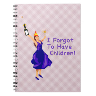 She Forgot To Have Children Spiral Note Book