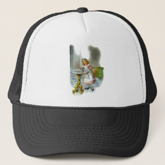 """She found a key by a bottle that said, """"Drink Me!"""" Trucker Hat"""