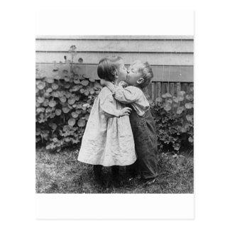 She gets the penny, He gets the kiss Postcard
