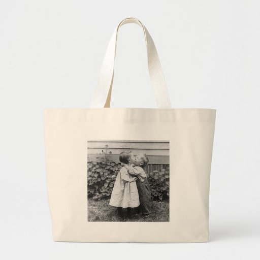 She gets the penny, He gets the kiss Tote Bags