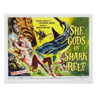 She Gods of Shark Reef vintage movie poster