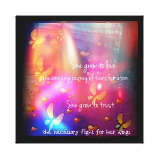 She Grew To Love Trust Canvas Print