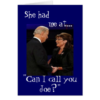 "She had me at...""Can I call you Joe?"" Stationery Note Card"