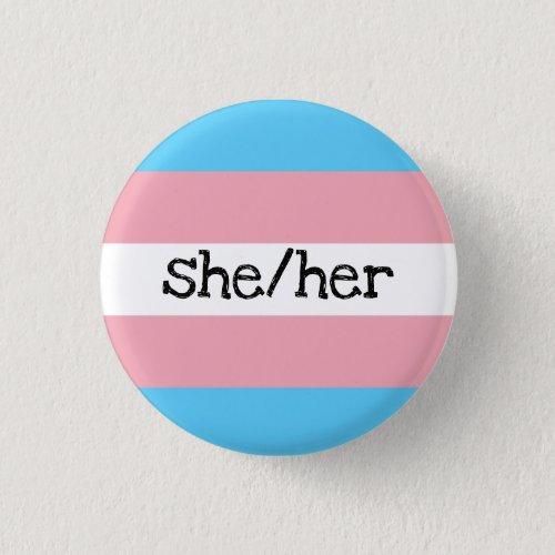 sheher pronouns transgender pride button