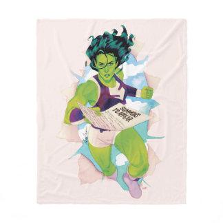 She-Hulk Delivering Summons Fleece Blanket