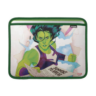 She-Hulk Delivering Summons Sleeve For MacBook Air