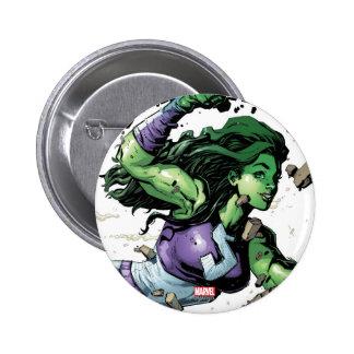 She-Hulk Smashing Through Blocks Button
