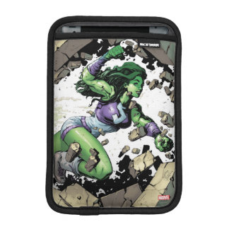 She-Hulk Smashing Through Blocks Sleeve For iPad Mini