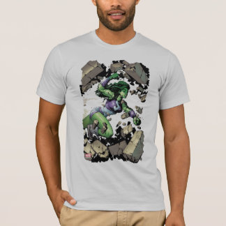 She-Hulk Smashing Through Blocks T-Shirt