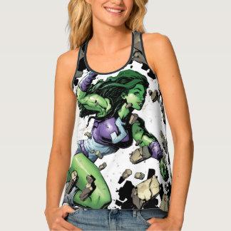 She-Hulk Smashing Through Blocks Tank Top
