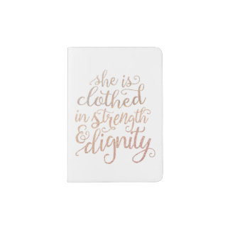 """She Is Clothed in Strength and Dignity"" Passport Passport Holder"