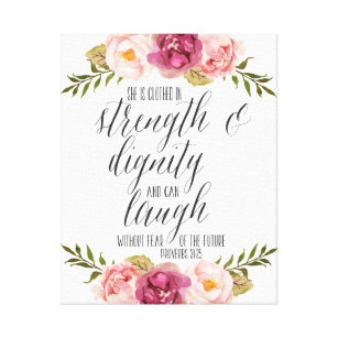 She Is Clothed Strength Dignity Gifts On Zazzle