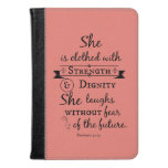 She is Clothed in Strength and Dignity Verse Kindle Case